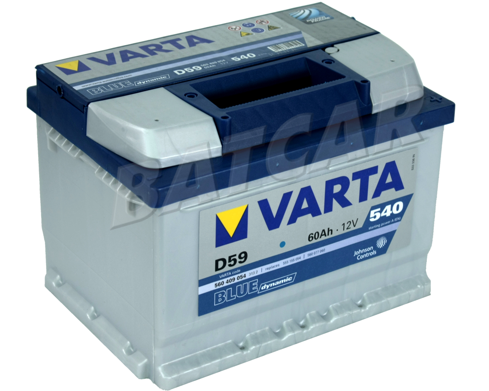 varta varta 60ah blue dynamic d59 autobatterie. Black Bedroom Furniture Sets. Home Design Ideas