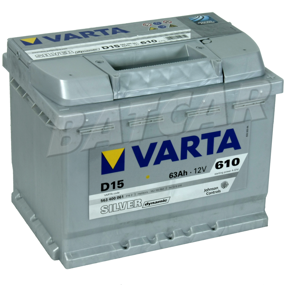varta silver dynamic d15 63 ah autobatterie starterbatterie ersetzt 55 60 65ah ebay. Black Bedroom Furniture Sets. Home Design Ideas