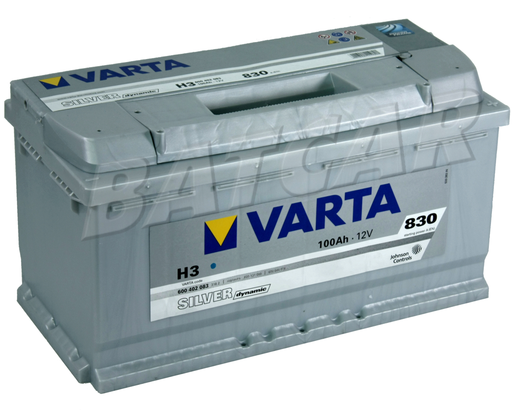 varta 100ah 830a en silver dynamic h3 autobatterie. Black Bedroom Furniture Sets. Home Design Ideas