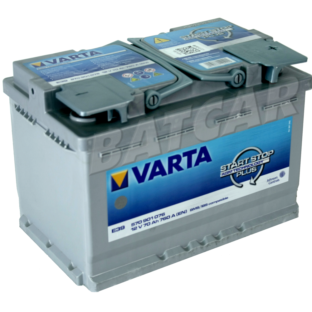 varta agm batterie varta e39 70 ah 70ah start stop plus batcar. Black Bedroom Furniture Sets. Home Design Ideas