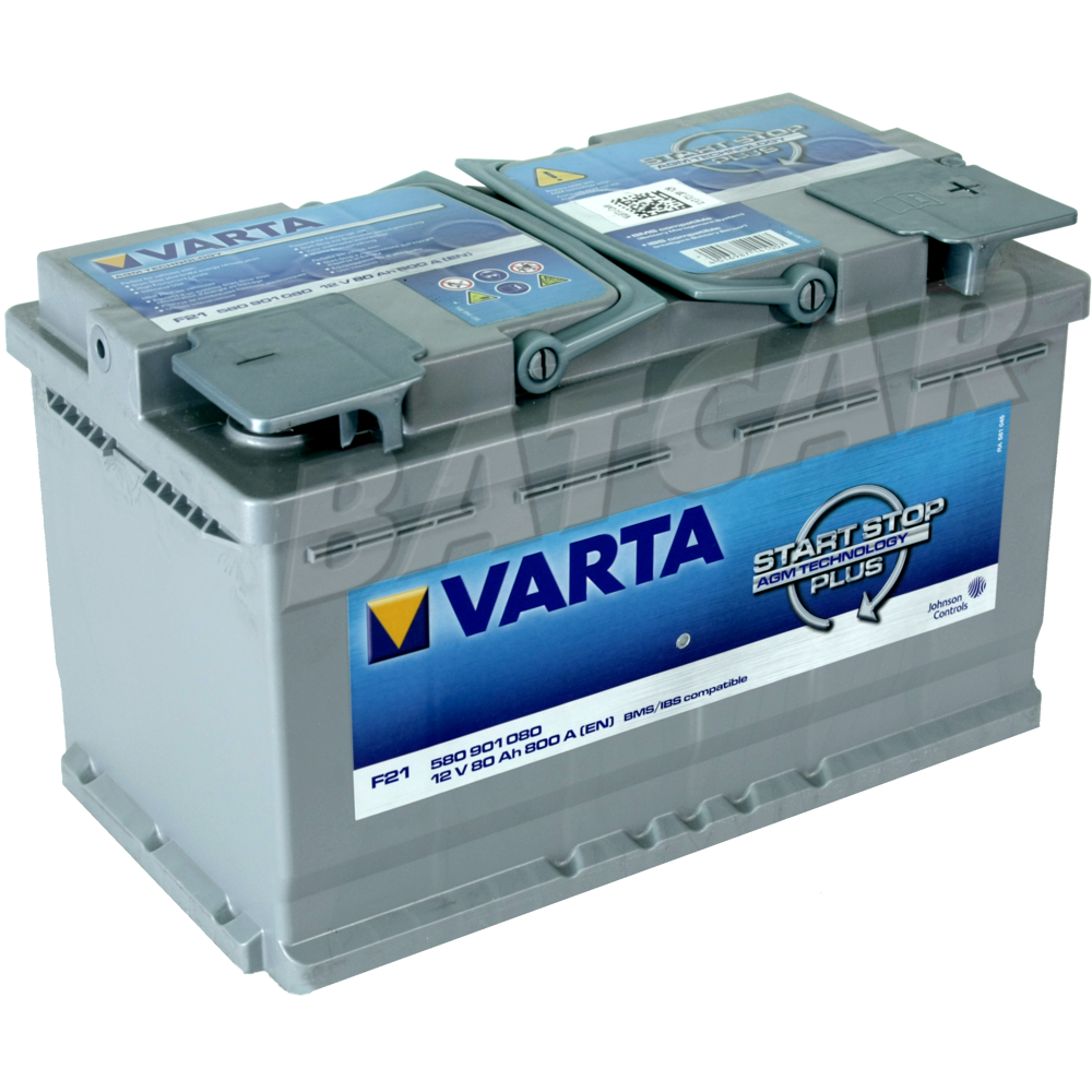 varta start stop plus f21 80 ah agm batterie autobatterie ersetzt 75 ah 85 ah ebay. Black Bedroom Furniture Sets. Home Design Ideas