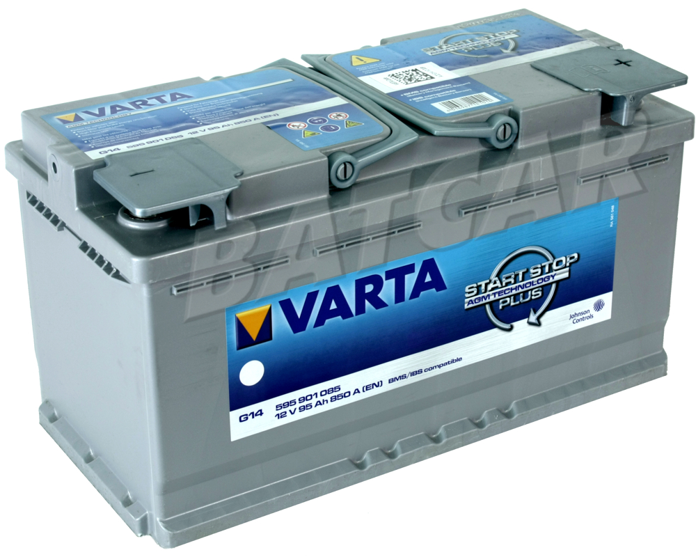 varta agm batterie 95 ah 95ah varta g14 start stop plus. Black Bedroom Furniture Sets. Home Design Ideas