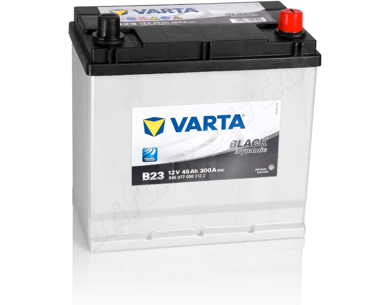 varta 45 ah autobatterie b23 black dynamic 12v 45ah. Black Bedroom Furniture Sets. Home Design Ideas
