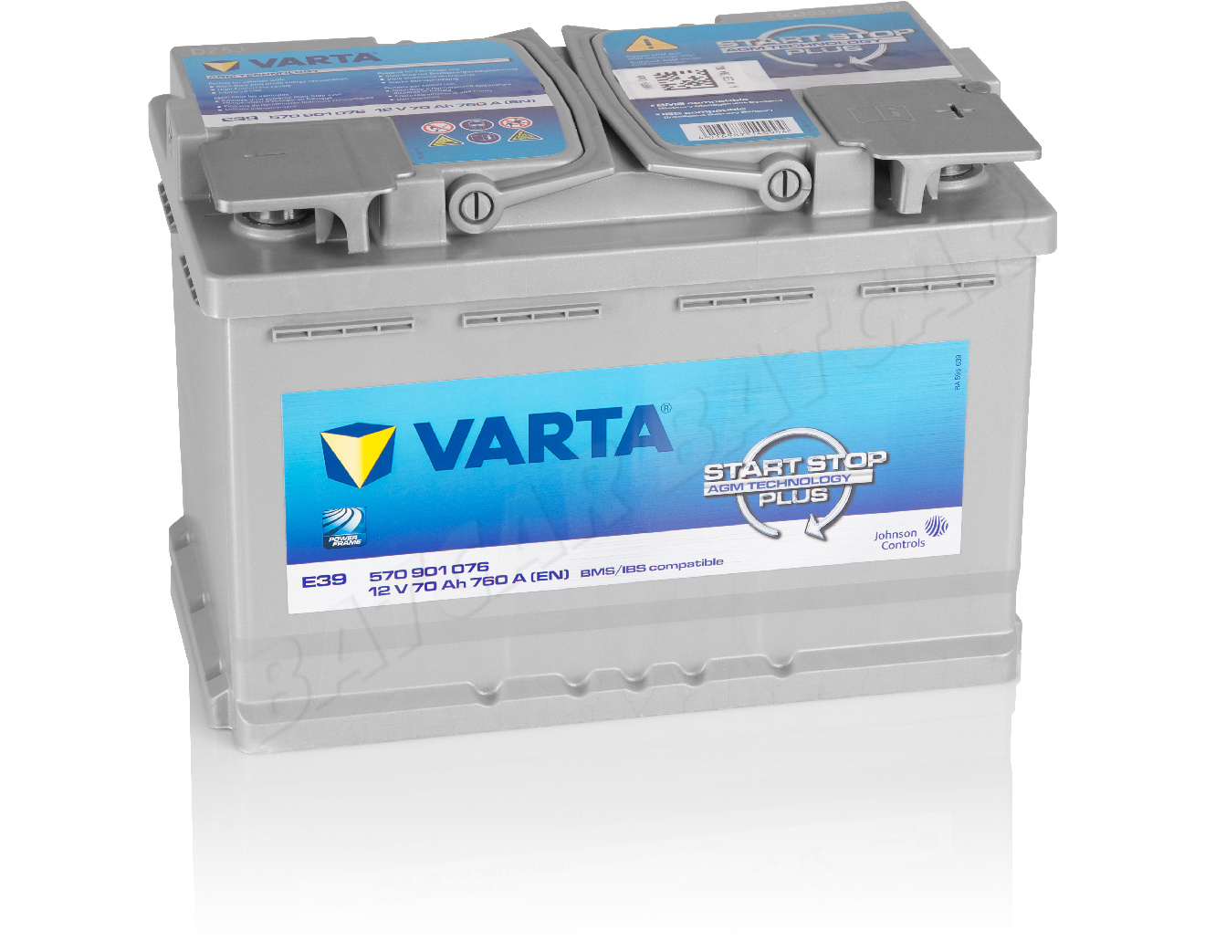 varta 70 ah starterbatterie e39 start stop agm 12v 70ah. Black Bedroom Furniture Sets. Home Design Ideas