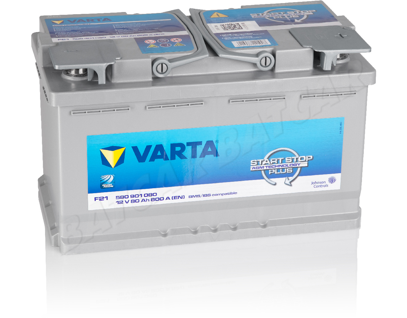 varta 80 ah starterbatterie f21 start stop agm 12v 80ah. Black Bedroom Furniture Sets. Home Design Ideas