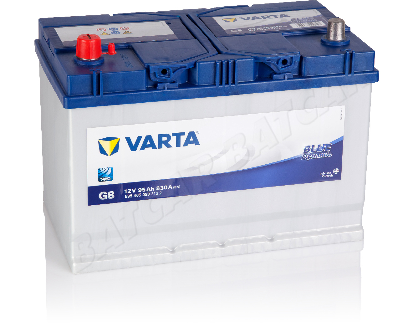 varta 95 ah starterbatterie g8 blue dynamic 12v 95ah. Black Bedroom Furniture Sets. Home Design Ideas
