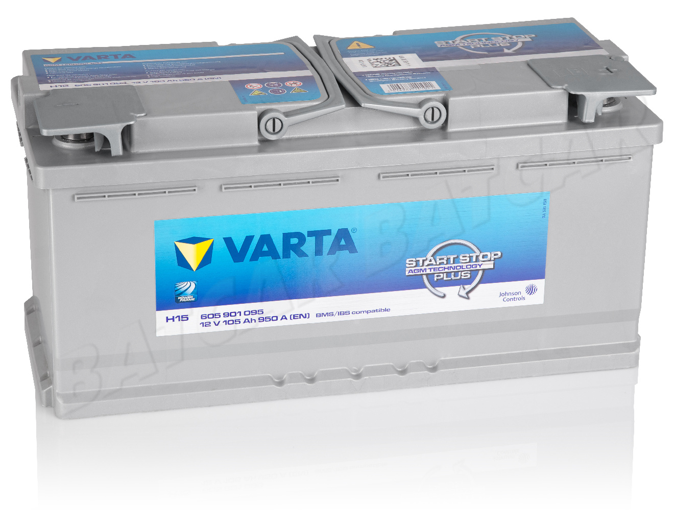 varta 105 ah autobatterie h15 start stop agm 12v 105ah. Black Bedroom Furniture Sets. Home Design Ideas