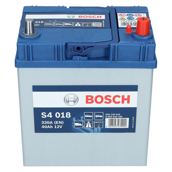 pkw autobatterie 12 volt 40 ah bosch s4 018. Black Bedroom Furniture Sets. Home Design Ideas
