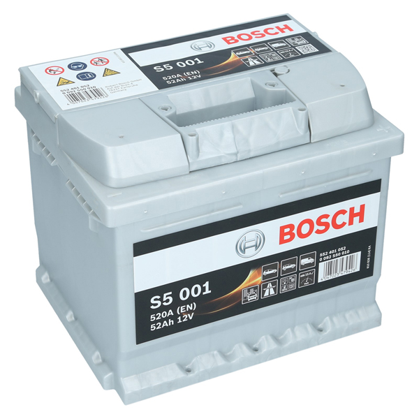 bosch s5 001 12v 52ah 520 a en autobatterie. Black Bedroom Furniture Sets. Home Design Ideas