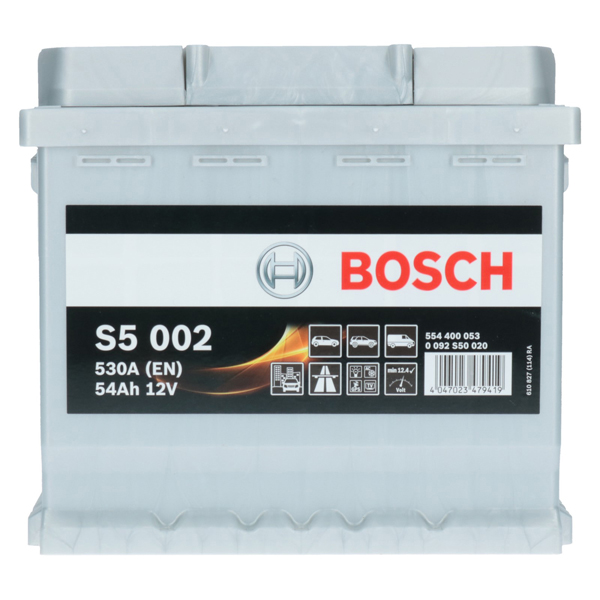 pkw autobatterie 12 volt 54 ah bosch s5 002. Black Bedroom Furniture Sets. Home Design Ideas