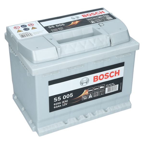 pkw autobatterie 12 volt 63 ah bosch s5 005. Black Bedroom Furniture Sets. Home Design Ideas