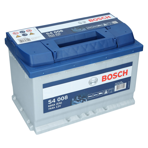bosch s4 008 12v 74ah 680 a en autobatterie starterbatterie ersetzt 70ah 75ah ebay. Black Bedroom Furniture Sets. Home Design Ideas