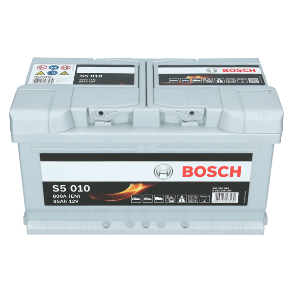 bosch s5 010 12v 85ah 800 a en autobatterie. Black Bedroom Furniture Sets. Home Design Ideas