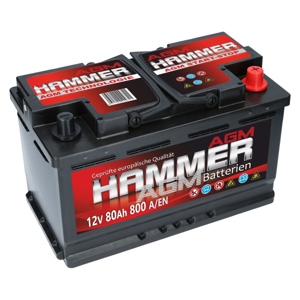 hammer agm 12v 80ah 800a en autobatterien shop agm batterien versorgungsbatterie. Black Bedroom Furniture Sets. Home Design Ideas