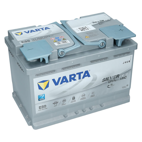 varta e39 12v 70ah agm autobatterie starterbatterie silver. Black Bedroom Furniture Sets. Home Design Ideas