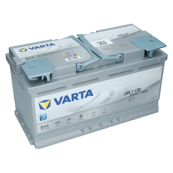 varta g14 12v 95ah agm autobatterie starterbatterie silver. Black Bedroom Furniture Sets. Home Design Ideas