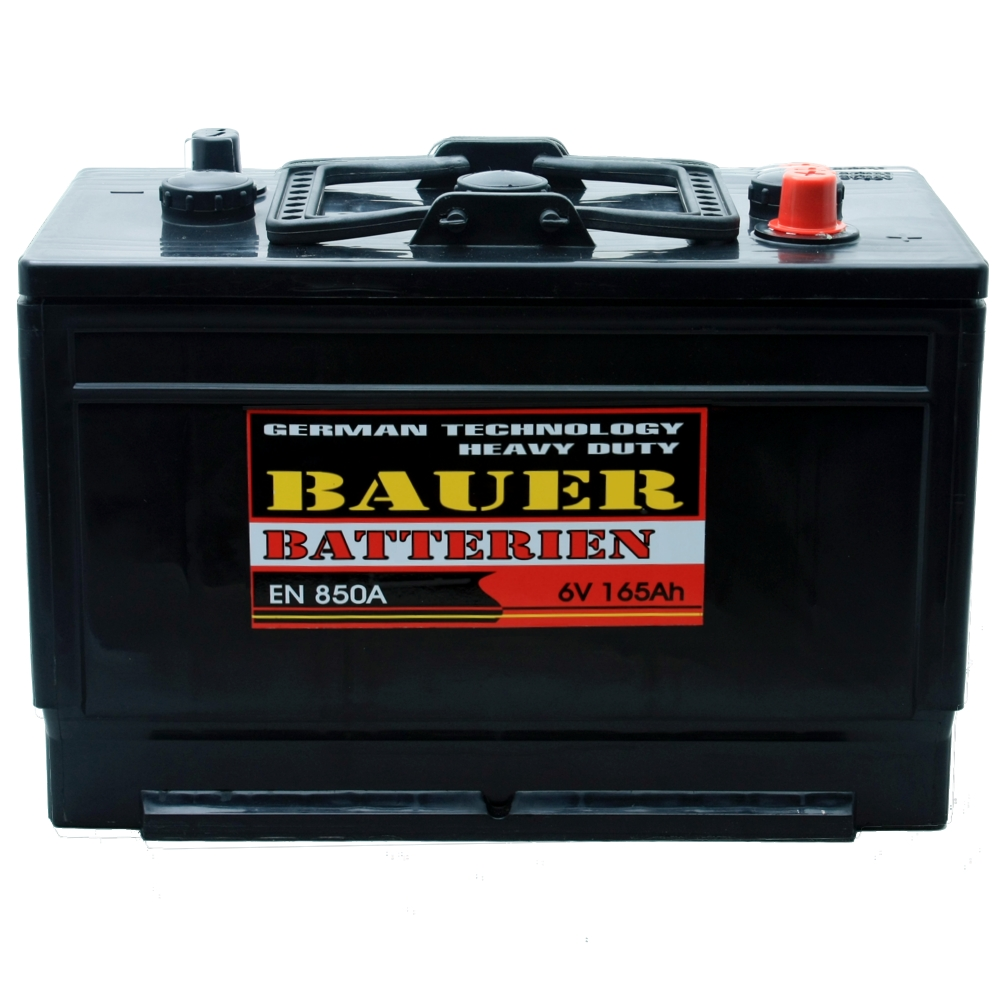 starterbatterie autobatterie bauer 6v 165ah 850a en ebay. Black Bedroom Furniture Sets. Home Design Ideas