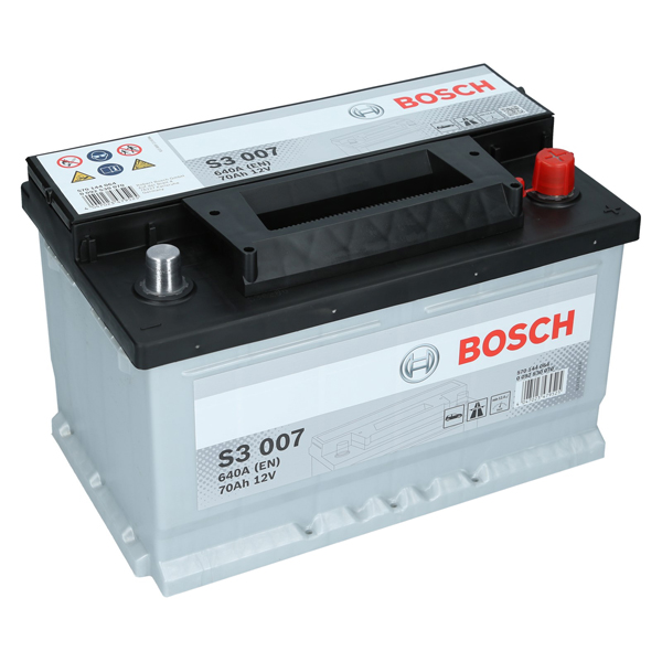 bosch 12v 70ah 640a en s3 007 autobatterie starterbatterie. Black Bedroom Furniture Sets. Home Design Ideas