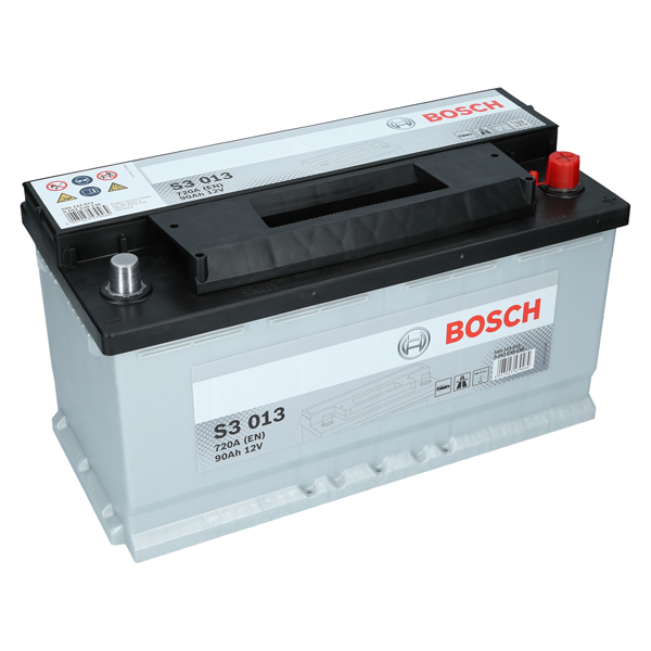 bosch 12v 90ah 720a en s3 013 autobatterie starterbatterie. Black Bedroom Furniture Sets. Home Design Ideas