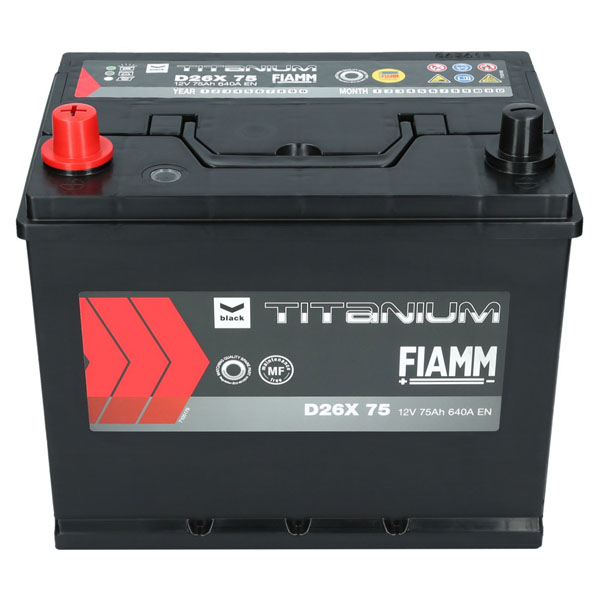 autobatterie 12v 75ah 640a en fiamm titanium black d26x75. Black Bedroom Furniture Sets. Home Design Ideas