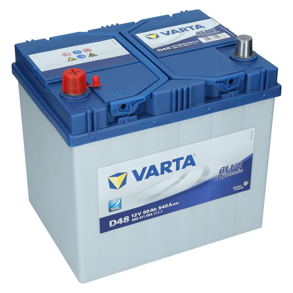 varta d48 12v 60ah 540a en autobatterie blue dynamic pkw. Black Bedroom Furniture Sets. Home Design Ideas