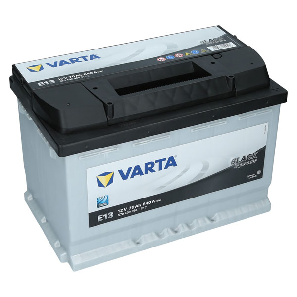varta 12v 70 ah 640a en e13 black dynamic autobatterie. Black Bedroom Furniture Sets. Home Design Ideas